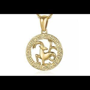 "Capricorn Zodiac Sign Gold Filled 18"" Necklace"